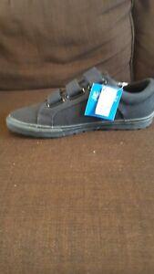 black canvas velcro men's shoes size