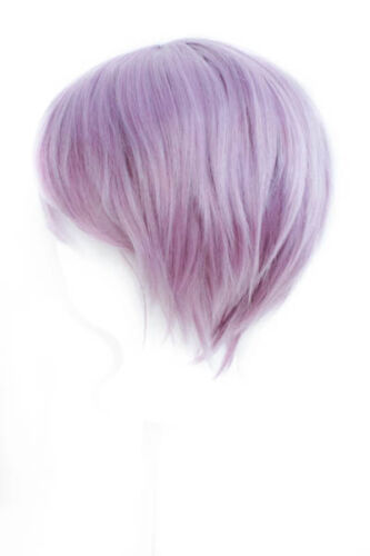 11/'/' Short Straight Men/'s Cut with Long Bangs Lilac Purple Wig Cosplay NEW