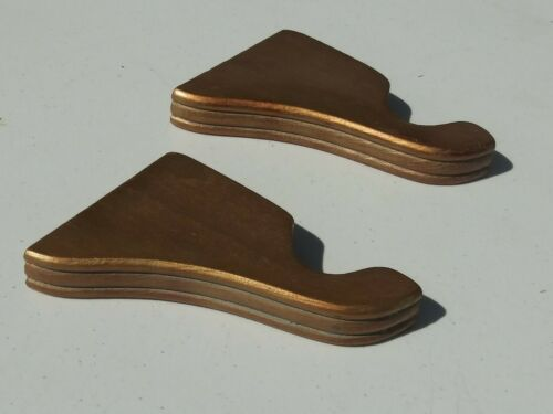 "Two Kirsch 1⅜/"" Wood Trends 3½/"" Ribbed Return Brackets Shimmer 2 Bronze VGPC"