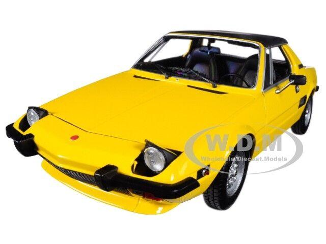 1974 FIAT X1/9 giallo LTD 504 PCS 1:18 DIECAST MODEL CAR BY MINICHAMPS 100121664