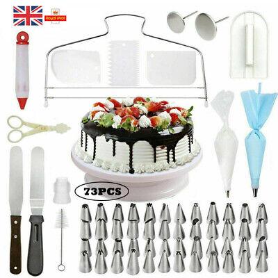 73pcs Cake Decor Kit Tool Baking Supplies Turntable ...
