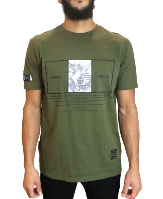Heritage America Mens T-Shirt Green Size Small S Graphic Tee Wolf $38 #043