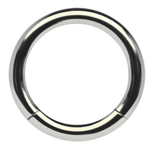Titan Intimate Piercing Jewellery Smooth Segment Ring 3,0mm with Clasp 10-23mm