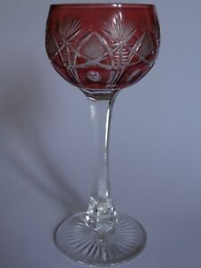 1 Ancien Verre A Vin Du Rhin Roemer Cristal Saint Louis Modele Niepce Orange CéLèBre Pour Des MatéRiaux SéLectionnéS, Des Conceptions Originales, Des Couleurs DéLicieuses Et Une Finition RaffinéE