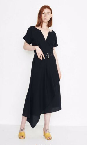 Rachel Comey Black Seersucker Flux Dress - image 1