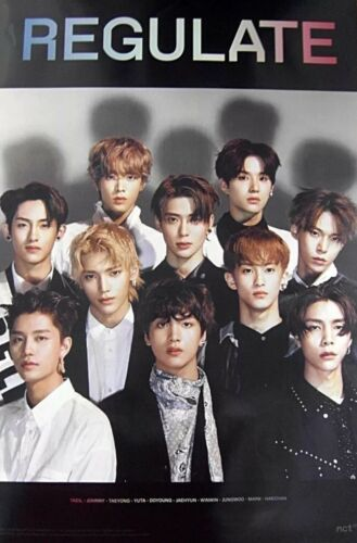 OFFICIAL POSTER *UNFOLDED IN HARD TUBE CASE NCT 127 REGULATE REPACKAGE Photo NEW