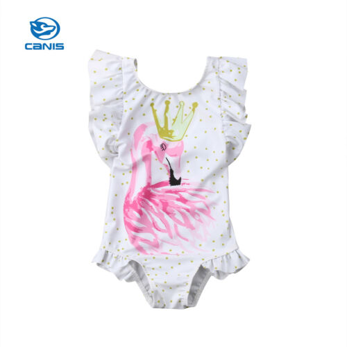 Toddler Kids Baby Girls Flamingo Bikini Swimwear Swimsuit Bathing Suit Beachwear