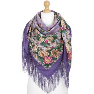1775-15-authentique-Pavlovo-Posad-Chale-100-laine-125x125cm-russe-foulard-wrap-49-034