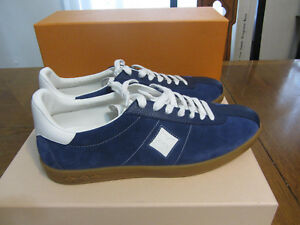 d873b2db765 Details about LOUIS VUITTON 'Luxembourg' Blue Leather Sneakers Shoes Size  8.5 US 41.5 EU