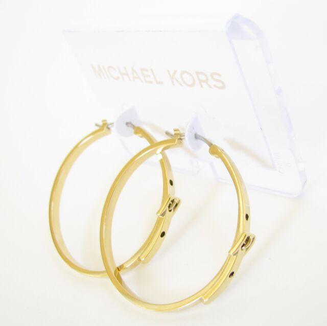 72739885578f Michael Kors Gold-tone Pave Hoop Earrings Item No. MKJ4933710 for ...