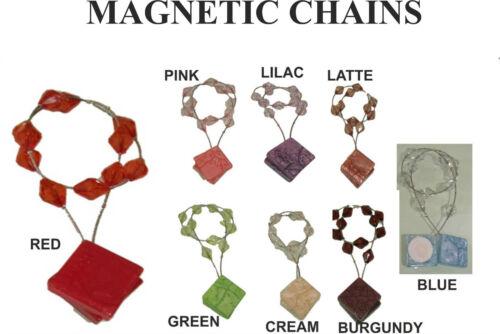 Rideau magnétique net voiles chaînes TIEBACK-rouge vert bleu rose crème