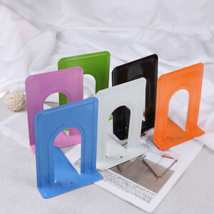 Colourful-Heavy-Duty-Metal-Bookends-Book-Ends-Office-Stationery-NTHN