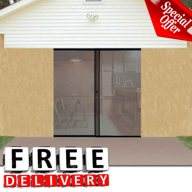 Garage Screen Door Single Instant Magnetic Closure Insect Mosquito Net  Fresh Air