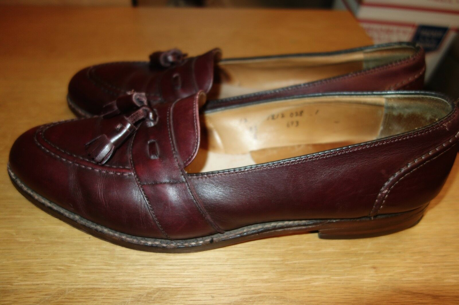 Alden Burgundy 693 Slip On Dress Shoe Size 12 AA/B AA/B 12 Made in  A fe6413