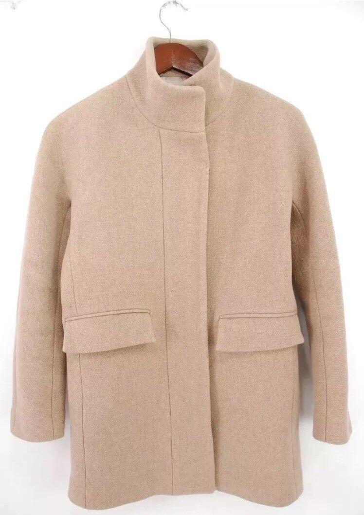 PERFECT J.Crew Stadium Cloth Cocoon Coat Italian Nello Gori Wool Camel  380+