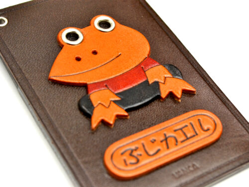 Lucky Frog Handmade 3D Leather Commuter ID Pass Card Holder//Case *VANCA* #26402