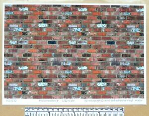 """A4 sheet old flat clay type/""""  paper Dolls house 1//12th scale /""""Roof tiles"""