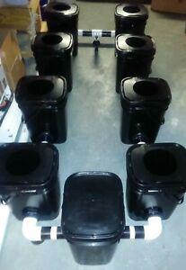 Rdwc Hydroponics System Custom Made 8 Pot 5.3 Gallon Bucket Sites