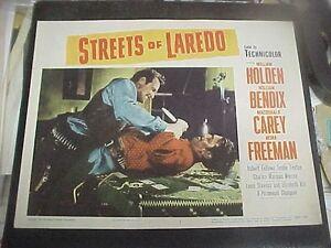 STREETS-OF-LAREDO-1956-reissue-LCS-William-Holden-William-Bendix