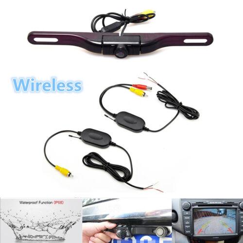 Wireless License Plate Mount Car Rear View Backup Camera 170° HD IR Night Vision