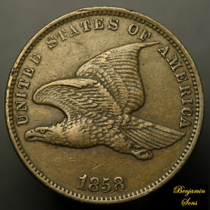 1858-Small-Letters-FLYING-EAGLE-CENT-1c-112620-05E-Free-shipping