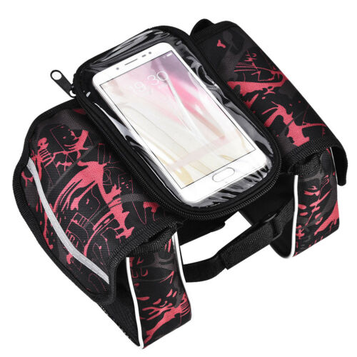 "Bike Front Tube Touch Screen Bag Case Waterproof Bicycle Frame 6.2/"" Phone Bag GL"