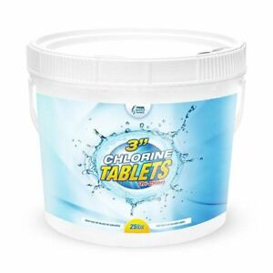 25-lb-Chlorine-Tablets-3-034-Pool-Sanitizer-Chemical-99-Tri-Chlor