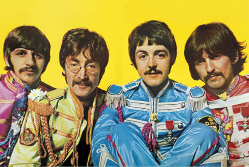 BEATLES MUSIC BAND 34239 LONELY HEART CLUB POSTER 24x36