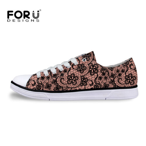 New Fashion Lady Women/'s Casual Canvas Sneakers Lace Up Shoes Low Top Shoe