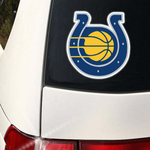 Indiana Sports Combined Decal Colts Pacers Qty Discounts WoW 8 x 6