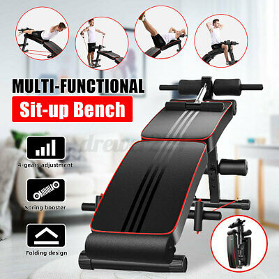 adjustable sit up abdominal bench press weight gym home ab