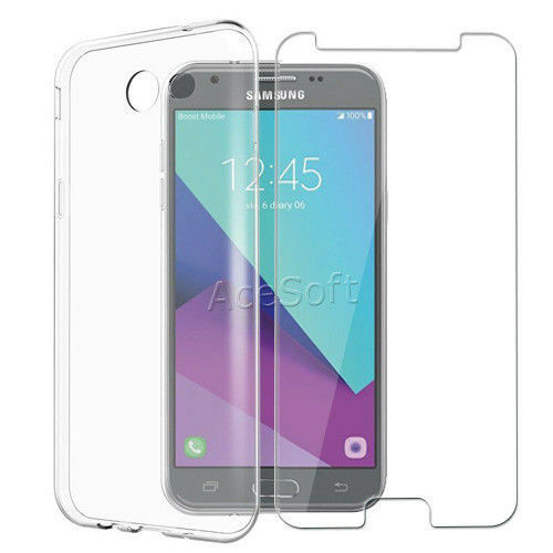 new styles 8770a c4aa3 for MetroPCS Samsung Galaxy J3 Prime J327t1 Phone Screen Protector Silicone  Case