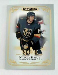 Nicolas Hague 2019-20 Stature Rookie #138 Las Vegas Golden Knights 161/399