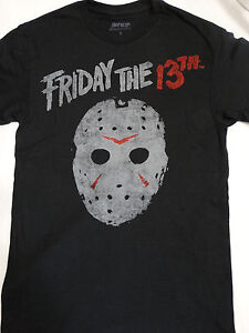 cb0d1a94a Friday the 13th Jason Voorhees Vintage Hockey Mask Horror Movie T ...