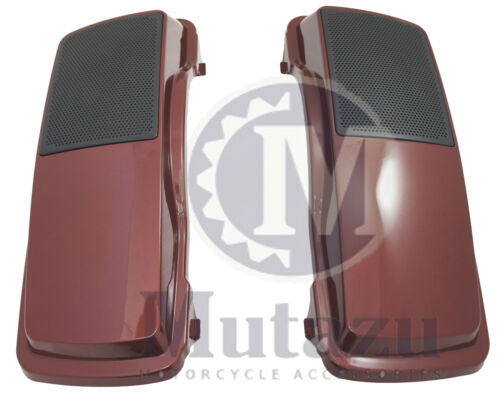 "Mutazu Fire Red Pearl 6/""x9/"" Speaker Lids for Harley Davidson Touring Models"