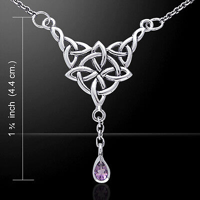 Celtic Quaternary Knot Sterling Silver Necklace by Peter Stone