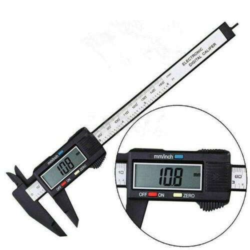 150mm 6/'/' Carbon Fiber Digital Electronic Gauge Vernier Caliper Micrometer Tool
