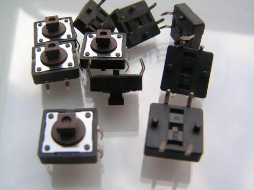 interrupteur tactile MONTURE PCB 12mm SPST PTM Bouton carré dtsp-24n 10 pièces