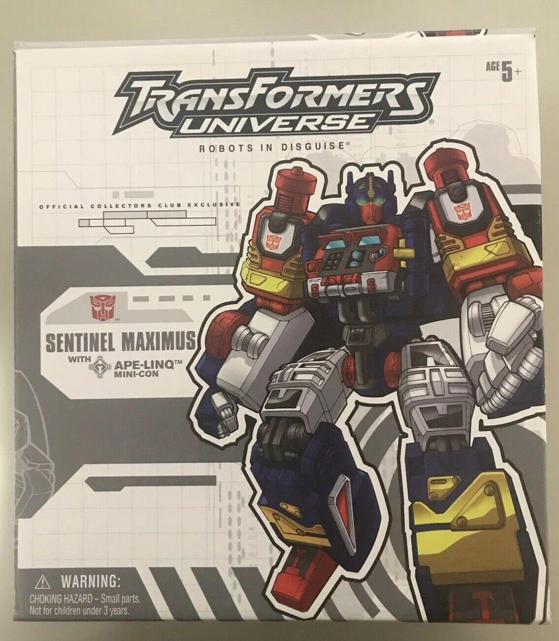 Transformers OTFCC 2004 botcon Sentinel Maximus Caja Burbuja instrucción no figura