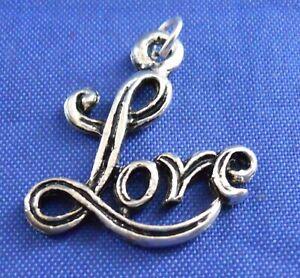 Love-Sterling-Silver-Bracelet-Charm-Pendant-Embellishment-925