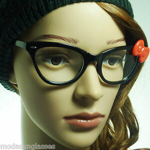 ab0f79589661 60s Hello Kitty Cat Style Retro Vintage Sexy Women Frame Clear Lens ...