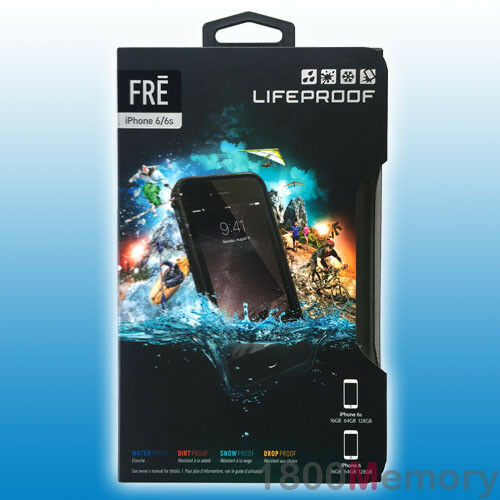 """GENUINE LifeProof Fre Case for Apple iPhone 6 6S 4.7"""" Shock Water Proof Black"""