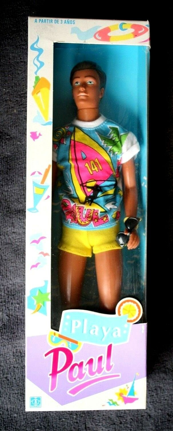 SINDY DOLL: PAUL, BEACH  SINDY´S BOYFRIEND . AS KEN FOR BARBIE MUÑECA BNIB, OS