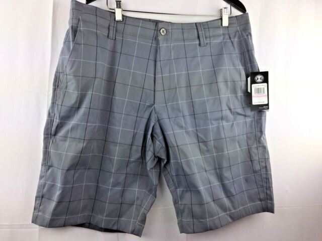 Men's Under Armour UA Match Play Patterned Golf Shorts NWT Grey Size 32/40  $75