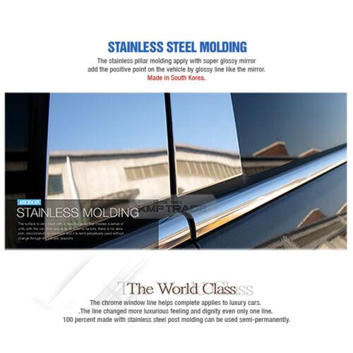 Stainless Steel Chrome Window Pillar PC Molding 6P For KIA 2015-2018 Sedona