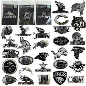 NFL-Team-Pick-Your-Team-Logo-Plastic-Chrome-Car-Truck-Auto-Emblem-Sticker-Decal