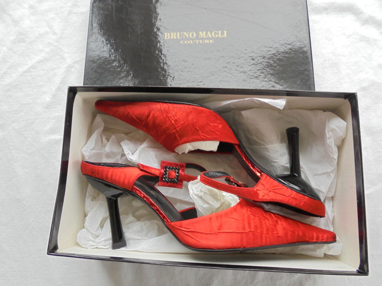 Feine Bruno Magli Satin Pumps NP:  Gr. w NEU Luxus Schuhe Gr.  36 36,5 37 33ff8a