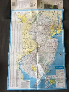 Details about Old Vintage New Jersey Road Map 1993 Edition