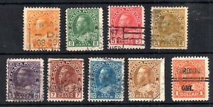 Canada-KGV-1922-25-fine-used-definitive-collection-to-1-246-255-WS12624