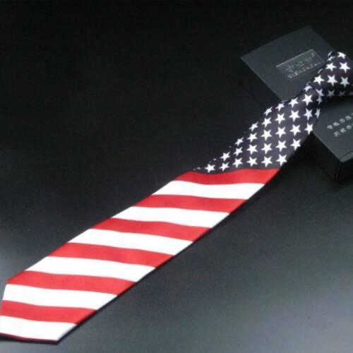 Fashion American Flag Stars And Stripes Tie Necktie Men Slim Neck Tie